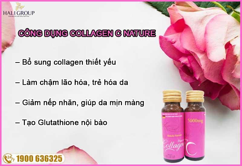 công dụng của collagen c nature chính hãng