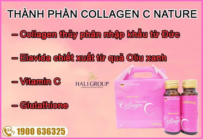 thành phần chính của collagen c nature chính hãng