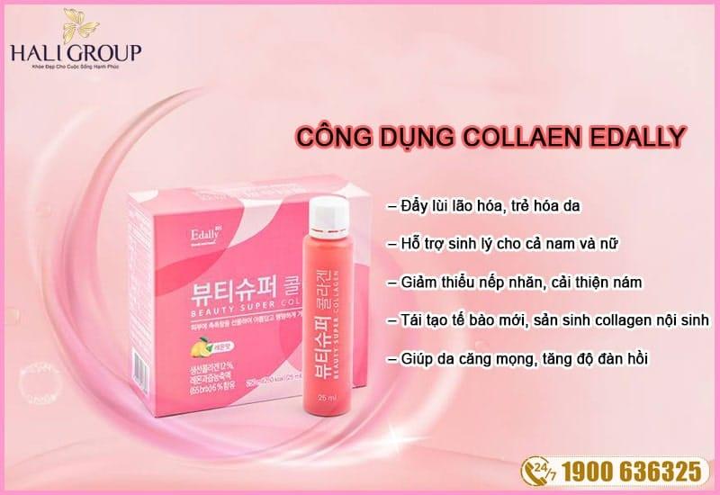 công dụng của nước uống collagen edally hàn quốc chính hãng beauty super collagen