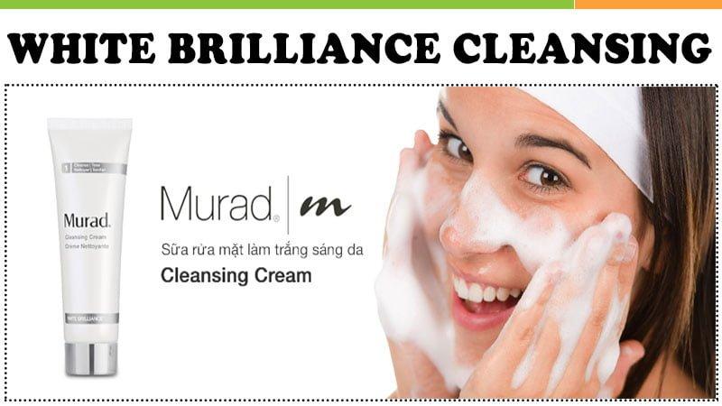 sử dụng Kem Rửa Mặt Trắng Sáng Da Murad