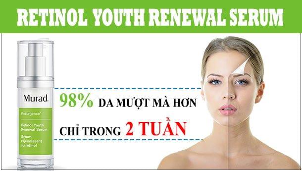 Công dụng Serum Tái Tạo Trẻ Hóa Da Murad Retinol Youth Renewal