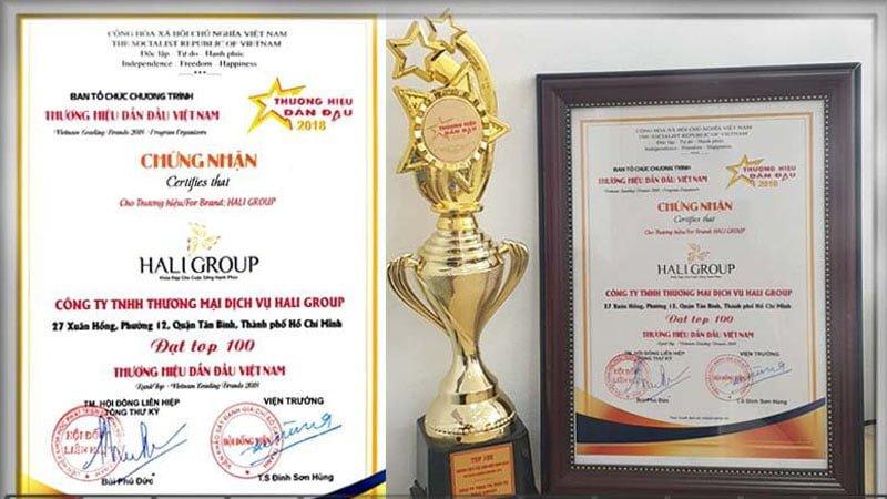 haligroup thương hiệu dẫn đầu năm 2018