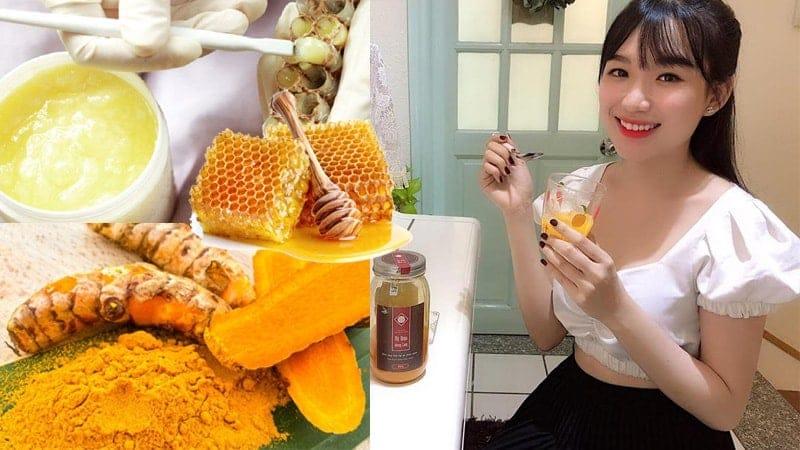 cách làm đồ uống mật ong nghệ sữa ong chúa