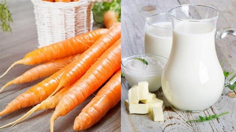 mặt nạ dưỡng da sữa chua cà rốt làm tại nhà