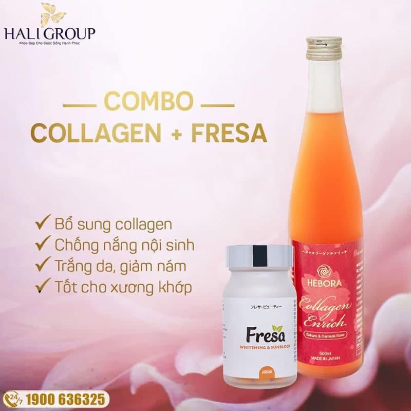 công dụng nổi bật của combo collagen hebora và fresa chính hãng nhật bản