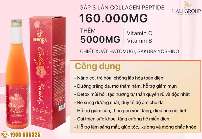 công dụng nổi bật của hebora collagen