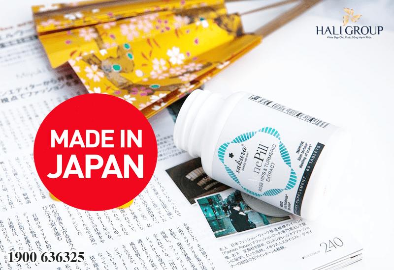 viên uống giảm mụn sakura sản xuất tại Nhật Bản