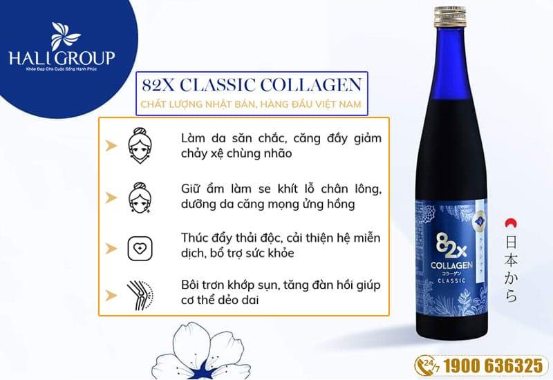 công dụng nổi bật của collagen 82x classic nhật bản chính hãng
