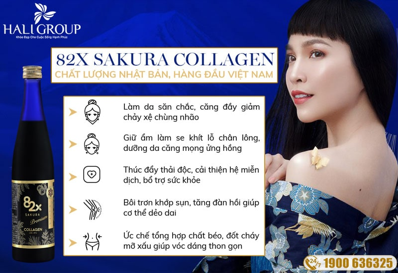 công dụng nổi bật của collagen 82x sakura mang lại