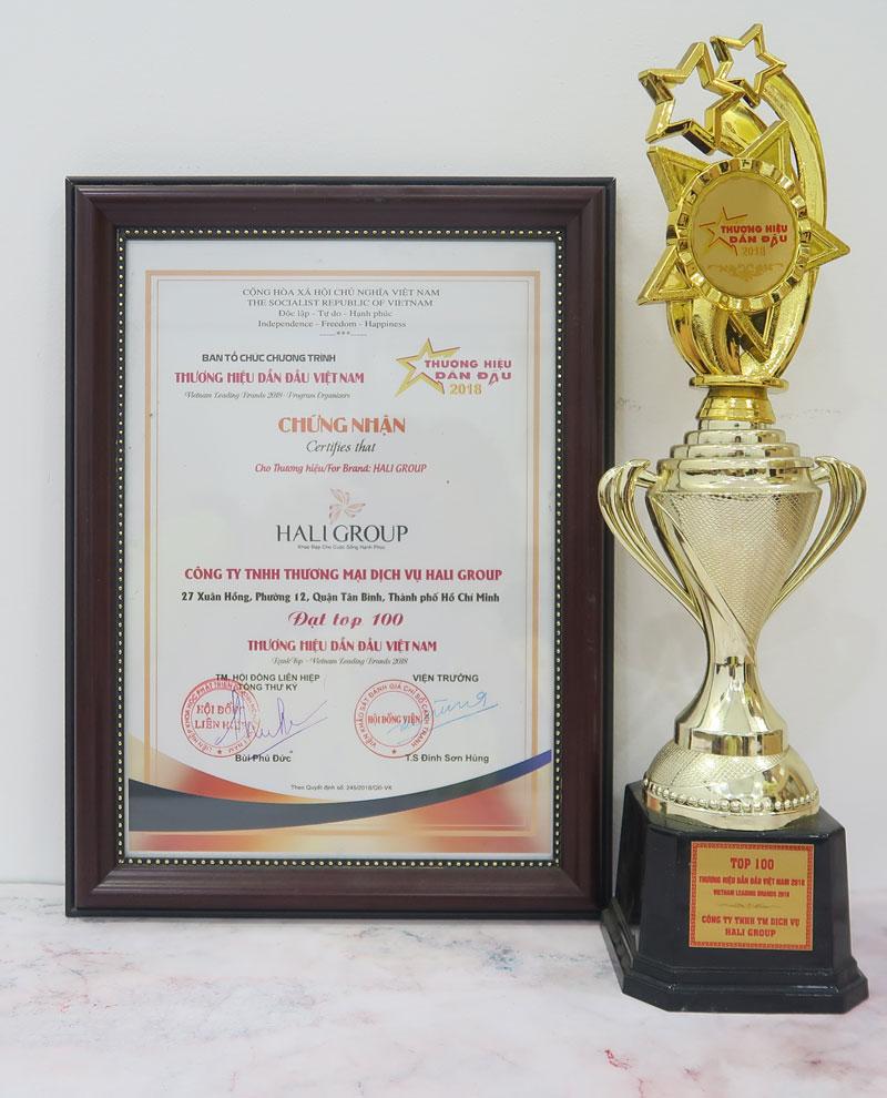 Hali Group vinh dự được nhận thương hiệu top 100 thương hiệu dẫn đầu việt nam