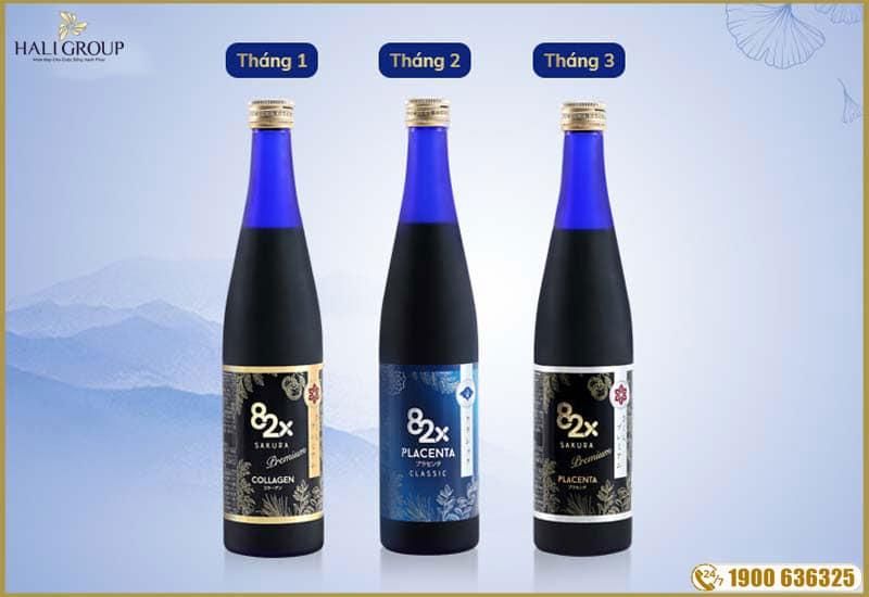 hướng dẫn sử dụng liệu trình da trắng của 82x collagen nhập khẩu chính hãng nhật bản