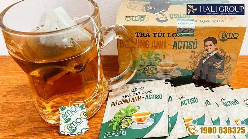 hướng dẫn sử dụng trà bồ công anh bình minh