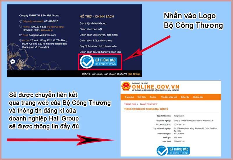 Hali Group đã đăng ký với bộ công thương