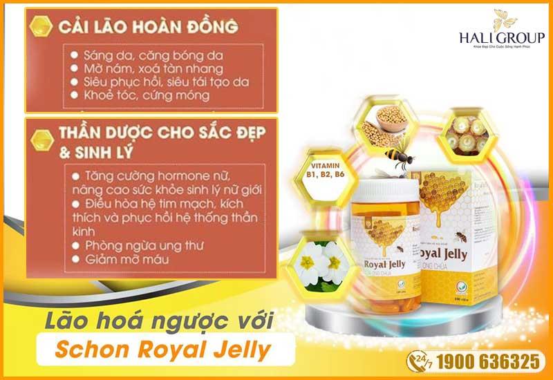 công dụng của viên uống sữa ong chúa schon royal jelly chính hãng