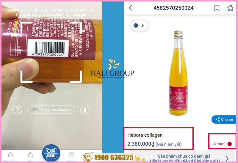 cách kiểm tra nước uống collagen hebora nhật bản 2020 chính hãng