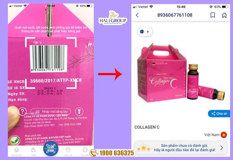 cách kiểm tra collagen c chính hãng