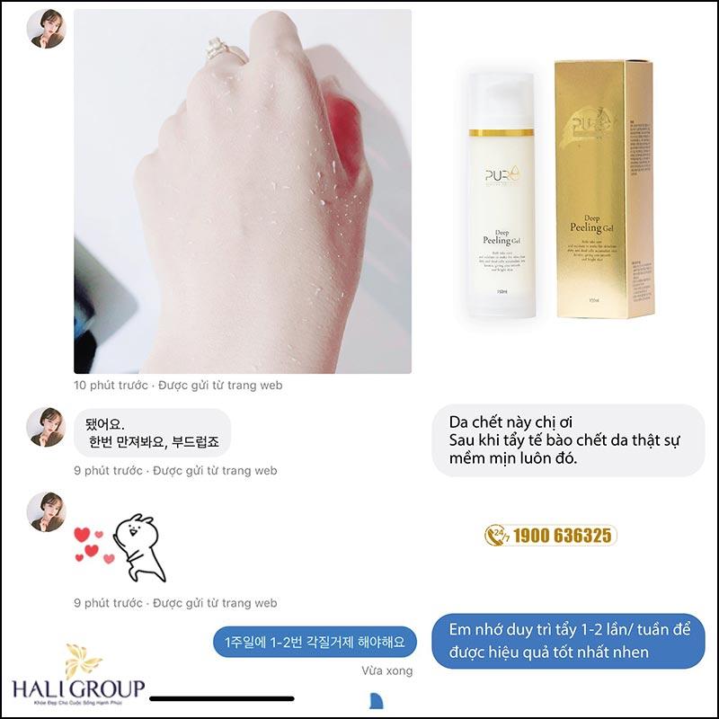 Feedback gel thay da thảo mộc Pure Hàn Quốc