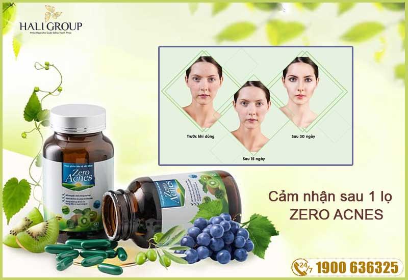 hiệu quả sau 1 liệu trình sử dụng viên hoa quả zero acnes
