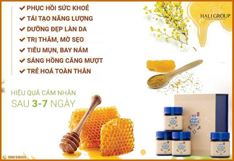 Tinh chất mật Ong có trong Mỹ Nhân Hoàng Cung