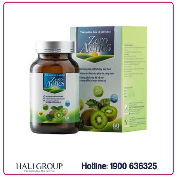 viên uống hoa quả zero acnes chính hãng bảo vệ sức khỏe