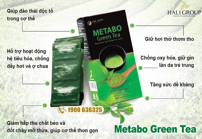 Công dụng nổi bật của Metabo Green Tea Fine Japan
