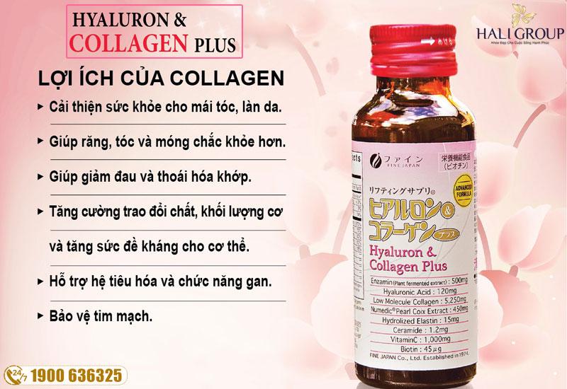 Công dụng nổi bật của Hyaluron collagen Plus
