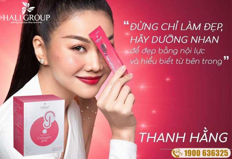 Thạch collagen đẹp da Sakura Premium collagen Jelly