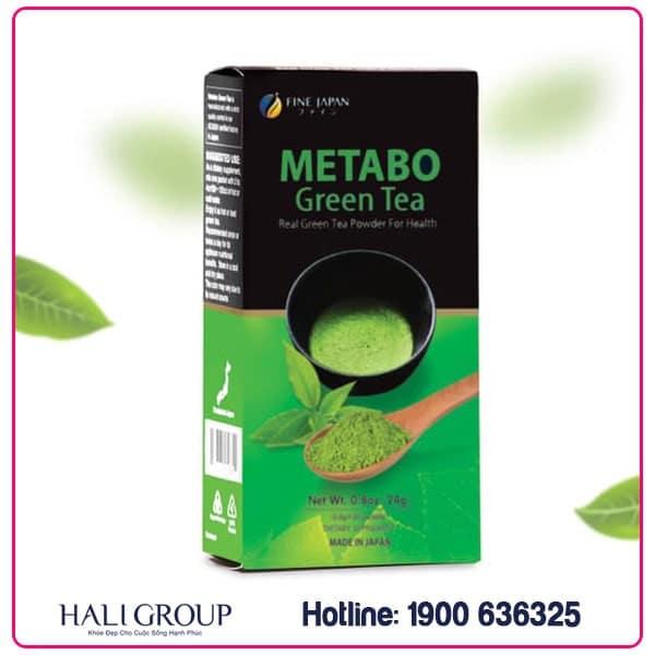 Bột trà xanh giảm cân Metabo Green Tea Fine Japan