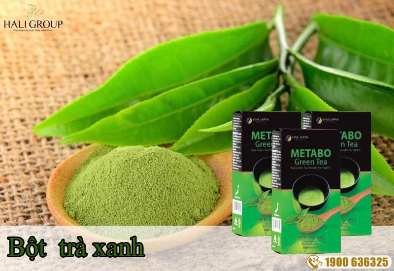 Bột trà xanh có trong Metabo Green Tea bột trà xanh giảm cân