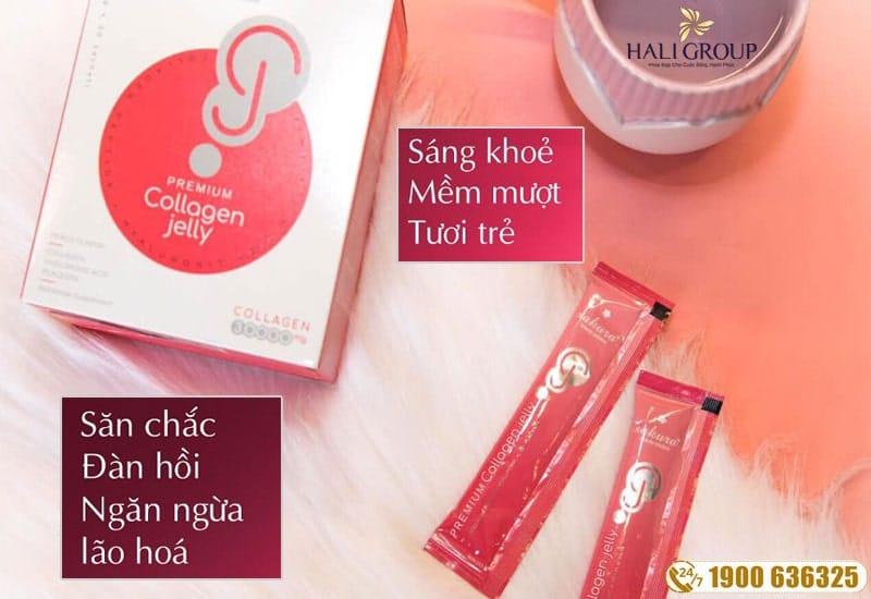 Công dụng của thạch collagen dưỡng da Sakura Premium Jelly