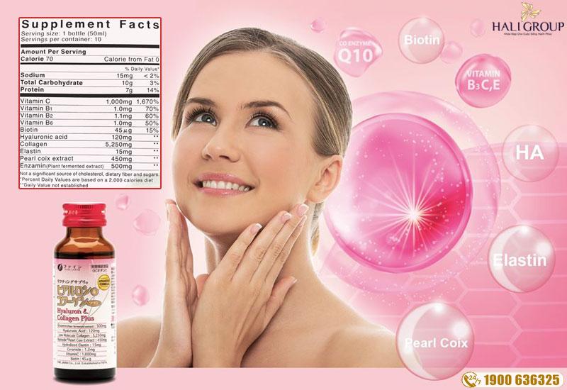 Thành phần của Fine Hyaluron collagen Plus