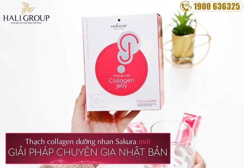 Cách sử dụng thạch collagen dưỡng nhan Sakura Premium collagen Jelly