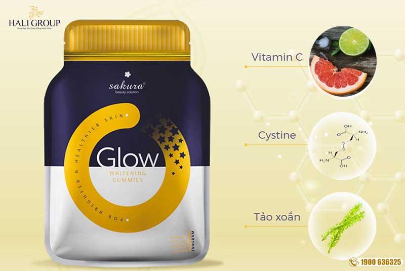 thành phần Sakura Glow Whitening Gummies