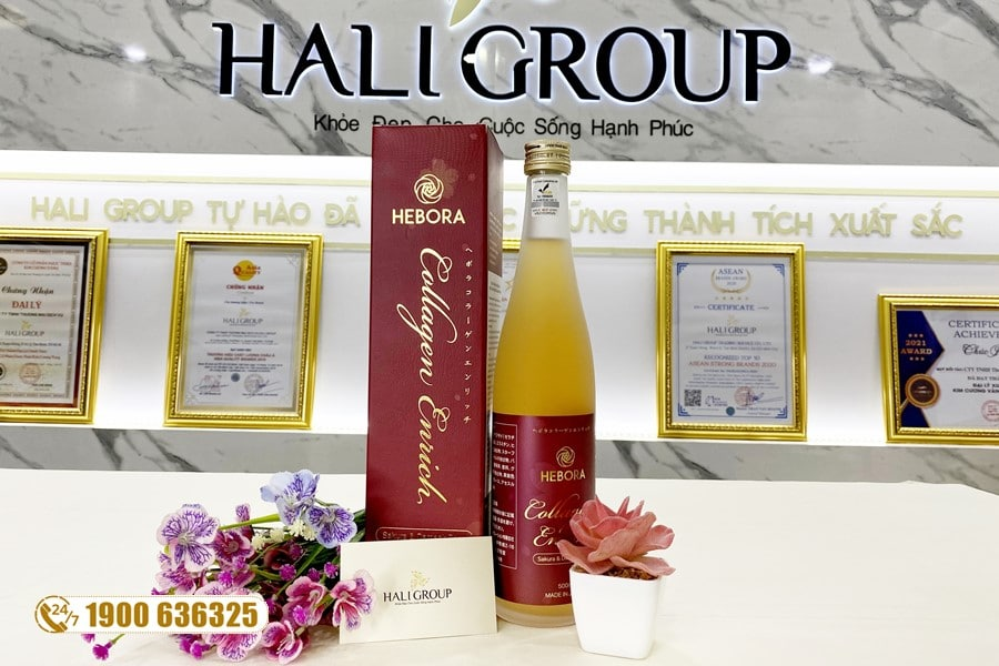 Nước uống Hebora Collagen Enrich Nhật Bản