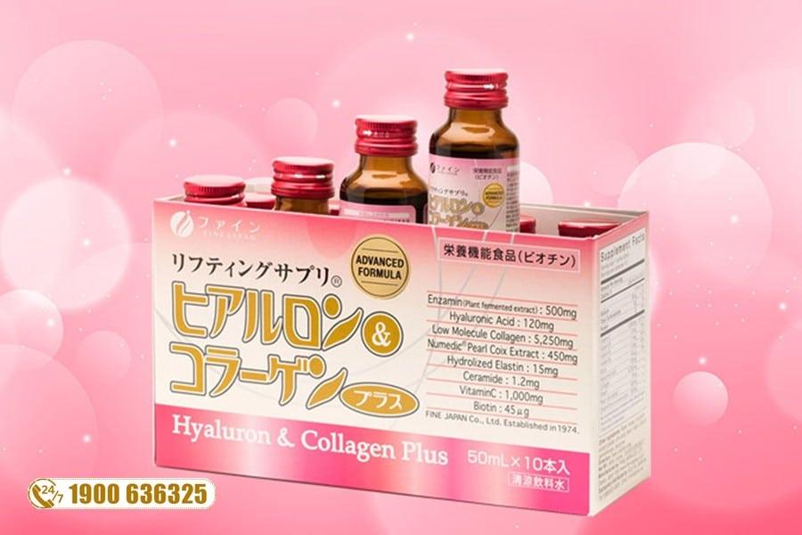 Nước Uống Hyaluron Collagen Plus Fine Japan